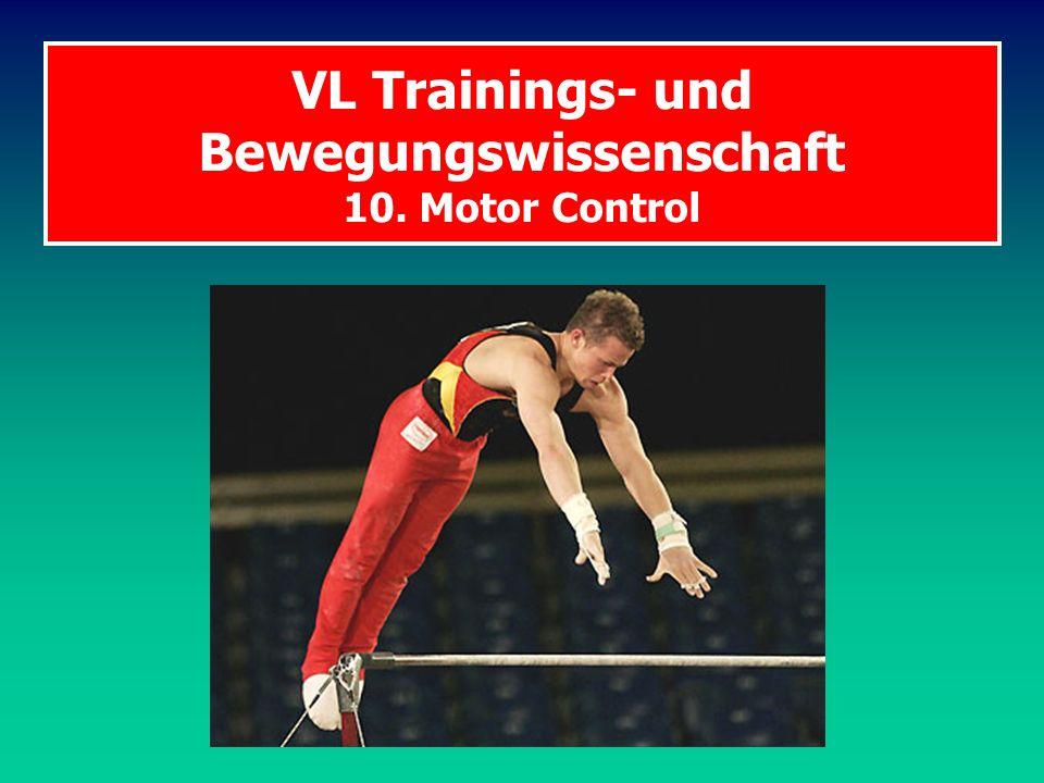 BW Motor Control Programm 1.Anatomische Grundlagen Vom Gehirn zum Muskel Wie entsteht eine Willkürbewegung.