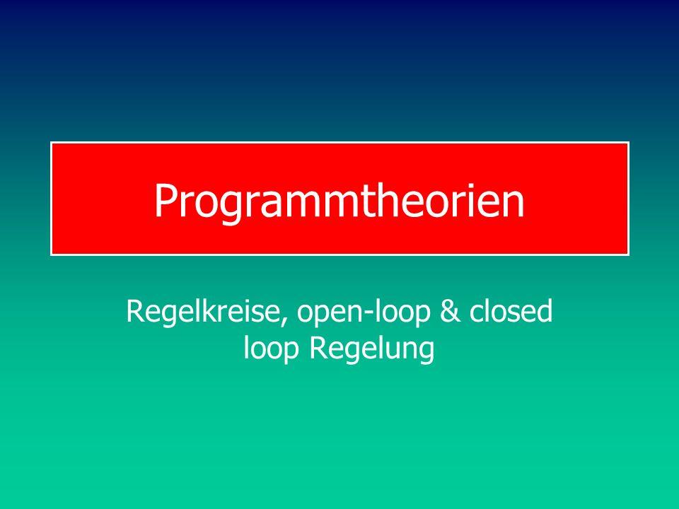 Programmtheorien Regelkreise, open-loop & closed loop Regelung