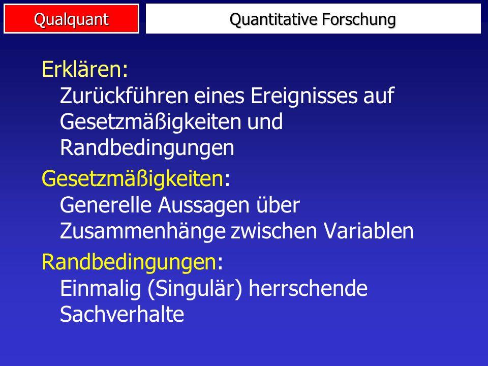 Qualquant für Gütekriterien