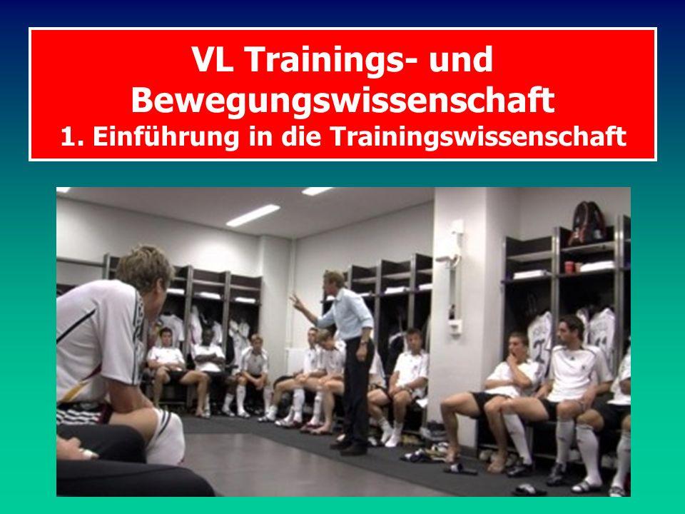 VL Trainings- und Bewegungswissenschaft 1. Einführung in die Trainingswissenschaft