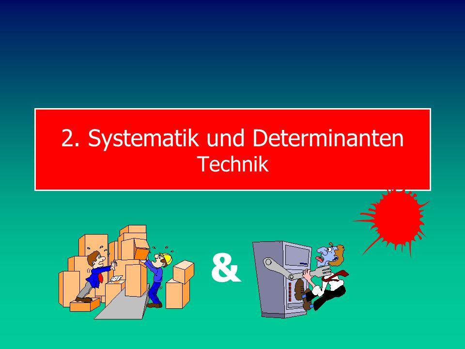 2. Systematik und Determinanten Technik &