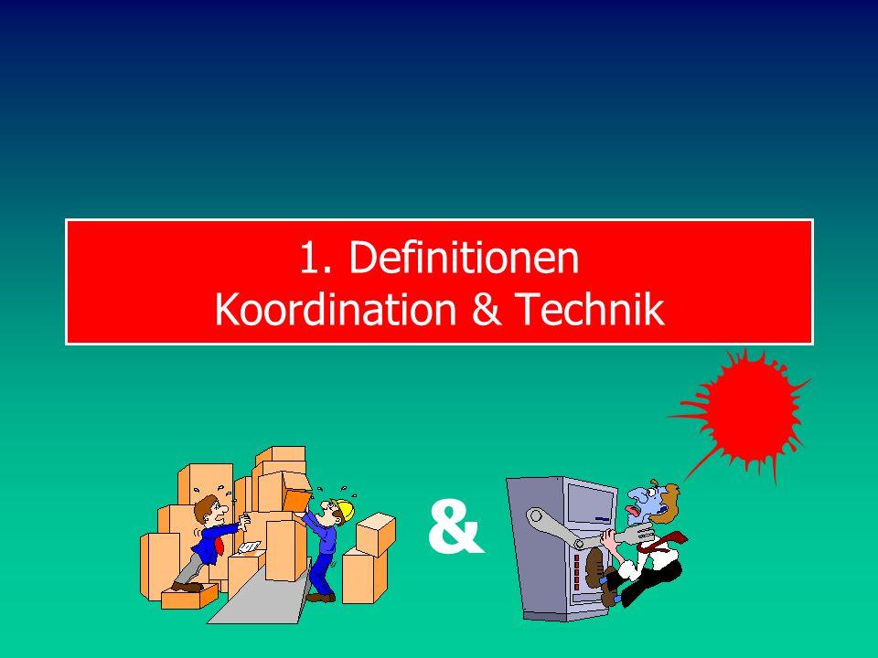 1. Definitionen Koordination & Technik &