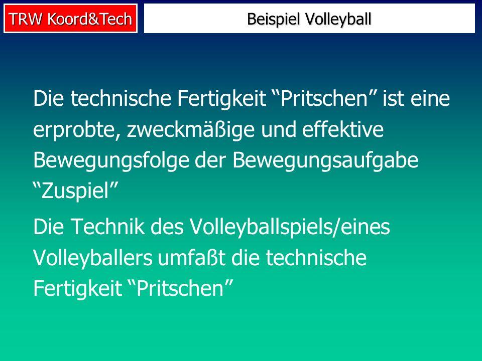 TRW Koord&Tech Die technische Fertigkeit Pritschen ist eine erprobte, zweckmäßige und effektive Bewegungsfolge der Bewegungsaufgabe Zuspiel Die Techni