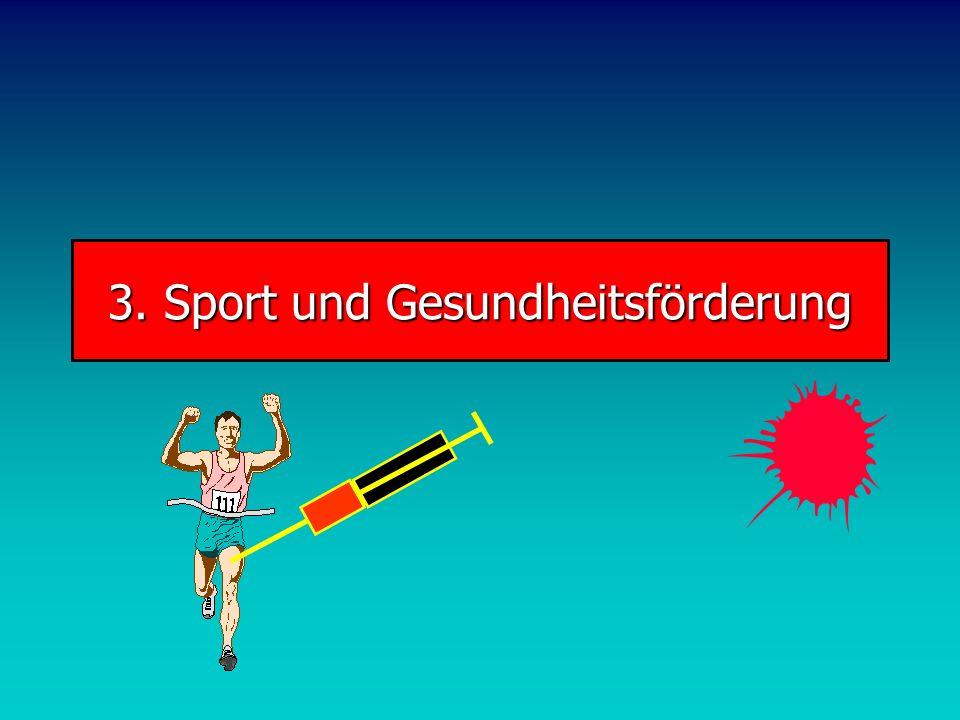 3. Sport und Gesundheitsförderung