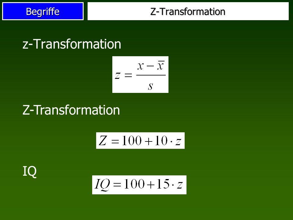 BegriffeZ-Transformation z-Transformation Z-Transformation IQ