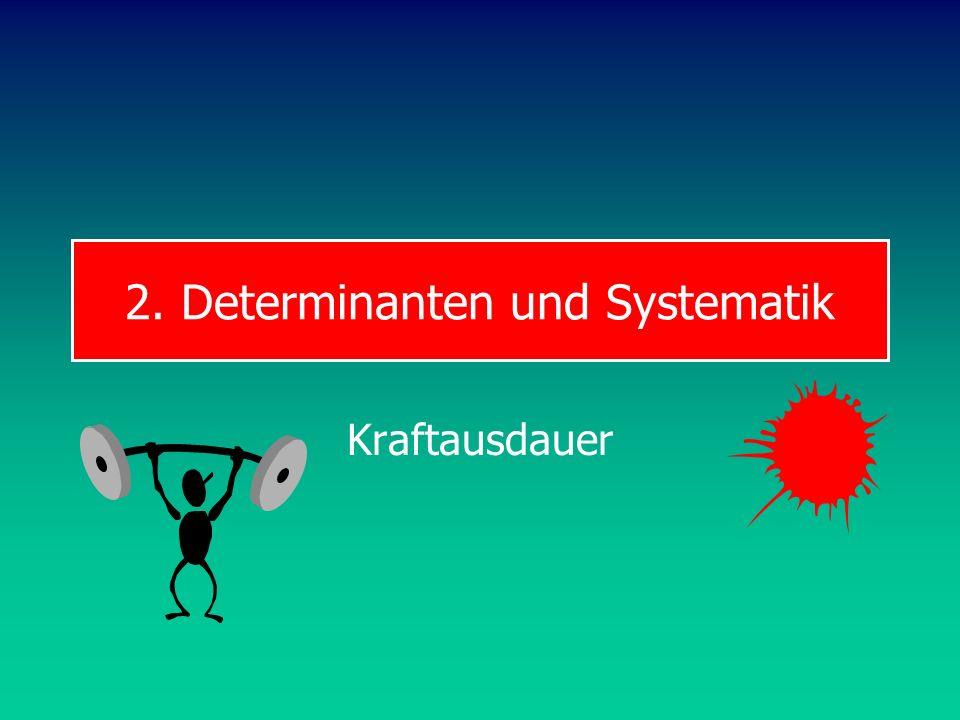 2. Determinanten und Systematik Kraftausdauer