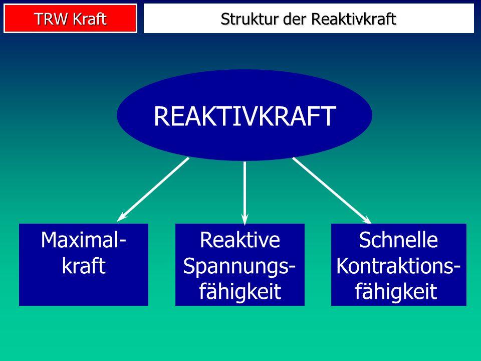 TRW Kraft REAKTIVKRAFT Maximal- kraft Schnelle Kontraktions- fähigkeit Reaktive Spannungs- fähigkeit Struktur der Reaktivkraft
