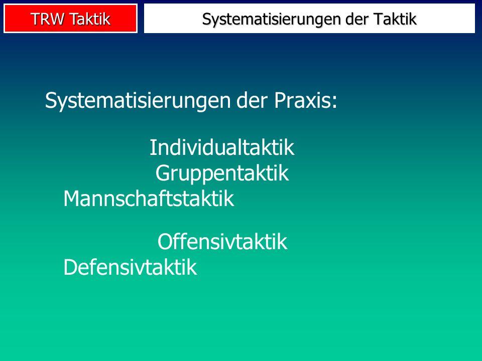TRW Taktik Taktik-ModellUmweltBewegung SensorikMotorik ZNS Einzelner Verhaltensakt