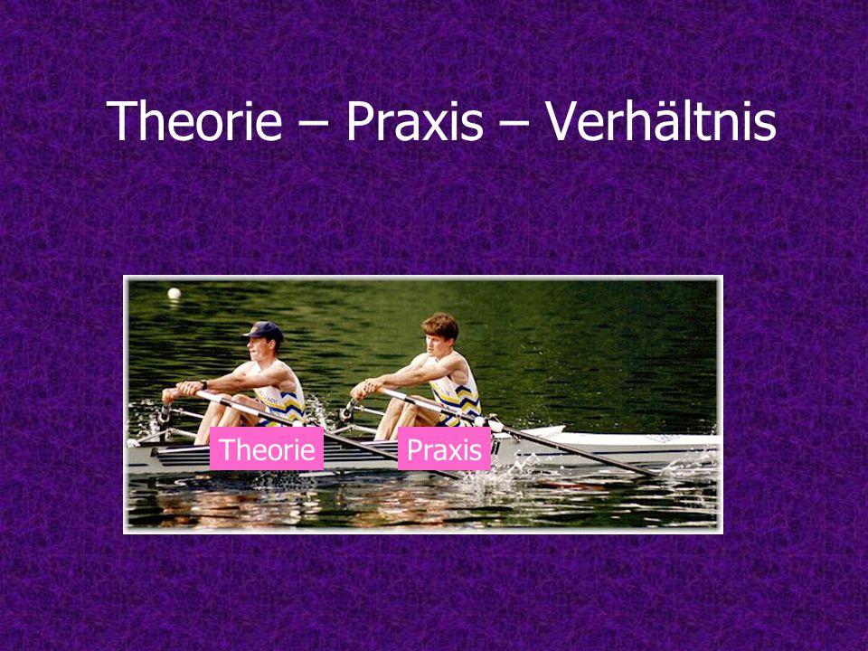 Probleme im Theorie-Praxis- Verhältnis Zusammenarbeit eher eine Kette von Misserfolgen Angebot der Wissenschaft an die Praxis & Bedürfnisse der Praxis an Wissenschaft werden falsch eingeschätzt Wissenschaft und Praxis zwei soziale Systeme Beide Seiten kennen sich zu wenig!