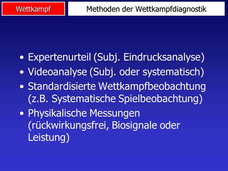 5. Wettkampfdiagnostik