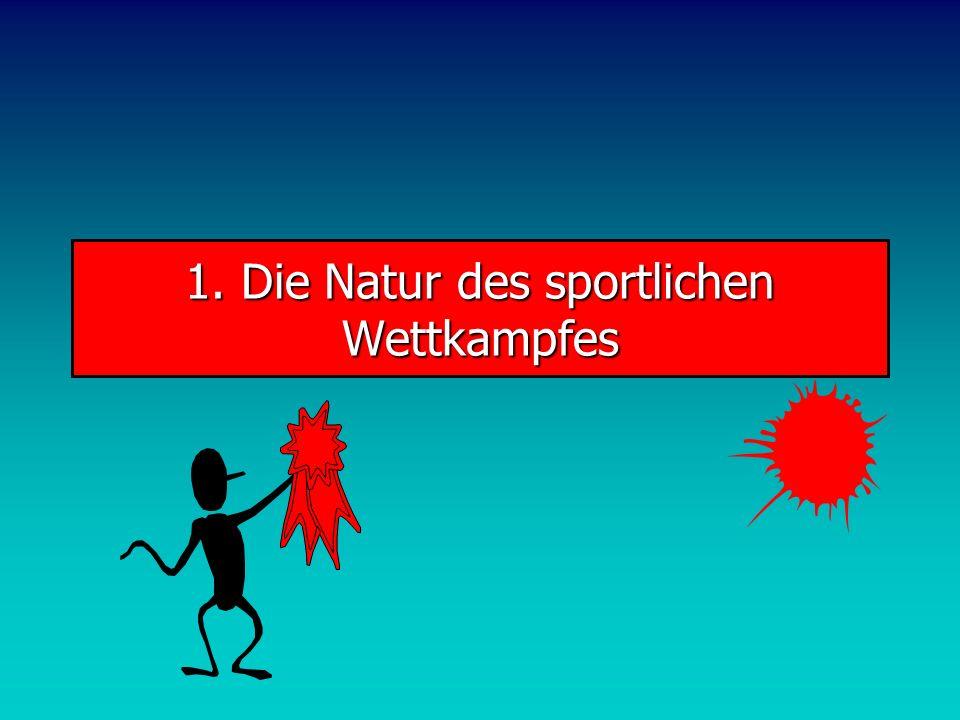 WettkampfProgramm 1.Die Natur des sportlichen Wettkampfes 2.Nicht-Linearitäten 3.Die Kopplung von Training und Wettkampf 4.Wettkampfsteuerung 5.Wettka