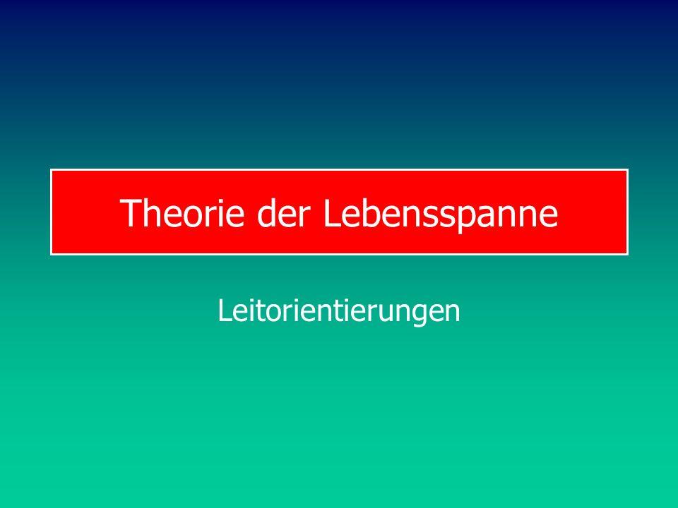 Theorie der Lebensspanne Leitorientierungen