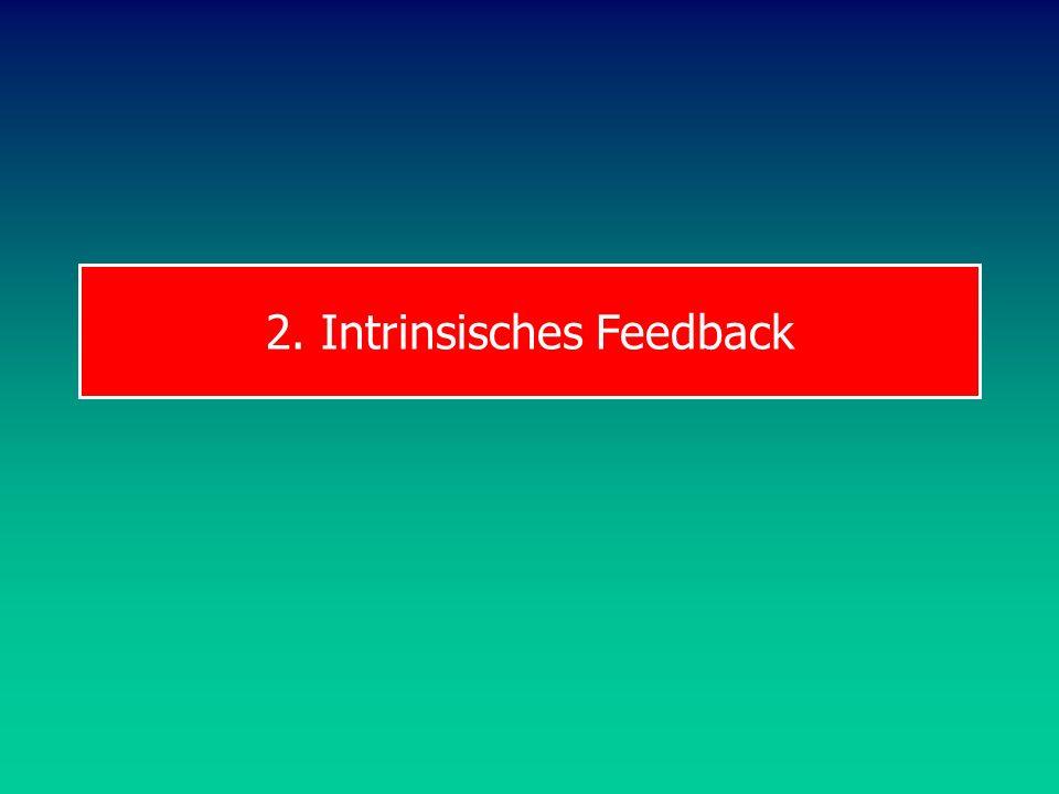 BW MD Intrinsisches Feedback Sensorisches Feedback: Exterozeptoren: visuell, akustisch Flugbahnen von Bällen oder Geräten Geräusche von Schlägen usw.