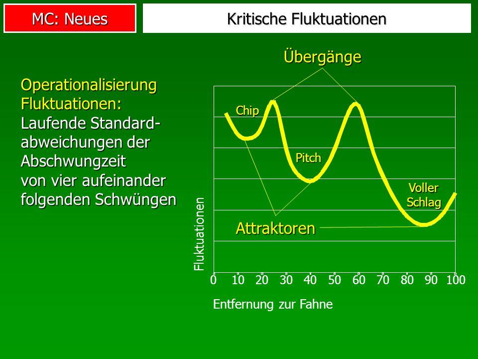 MC: Neues Kritische Fluktuationen Operationalisierung Fluktuationen: Laufende Standard- abweichungen der Abschwungzeit von vier aufeinander folgenden