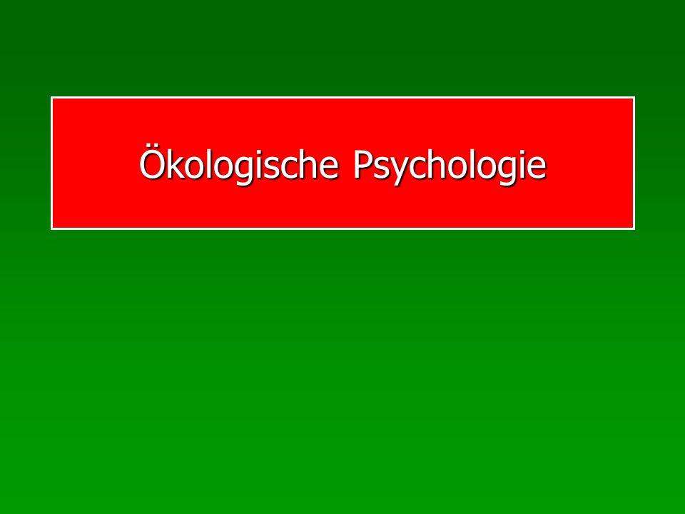 Ökologische Psychologie