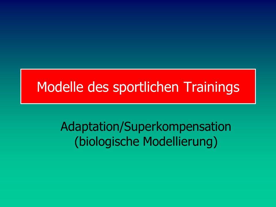Modelle des sportlichen Trainings Adaptation/Superkompensation (biologische Modellierung)