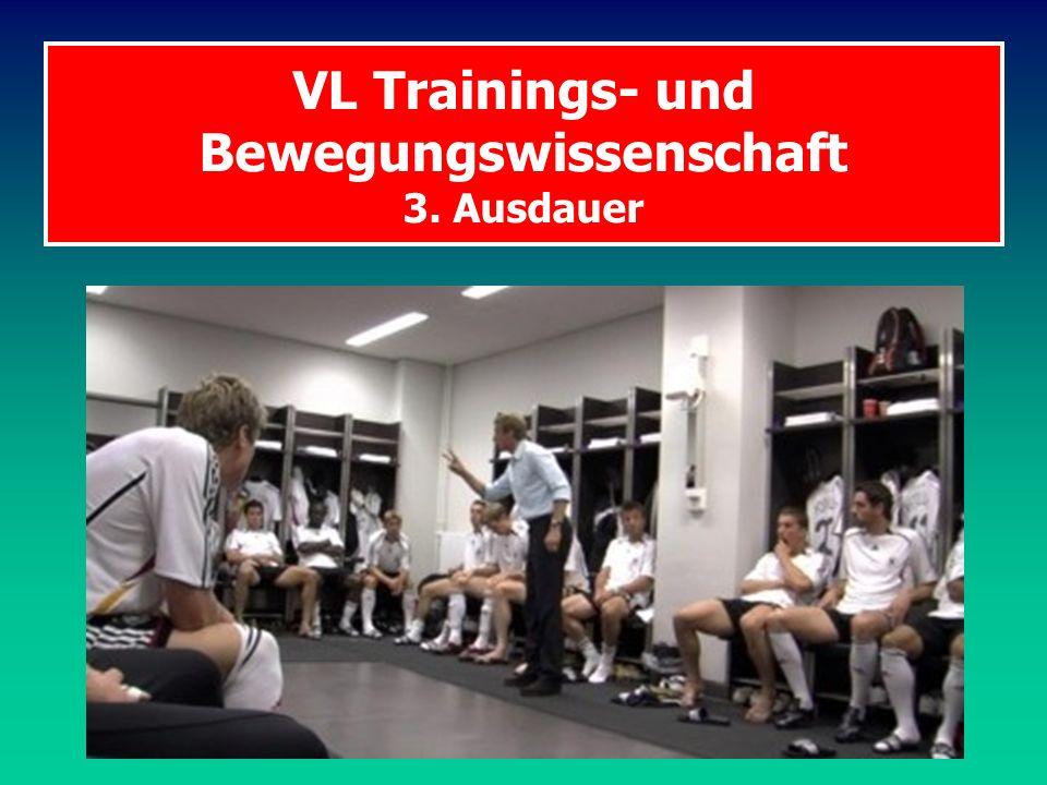 VL Trainings- und Bewegungswissenschaft 3. Ausdauer