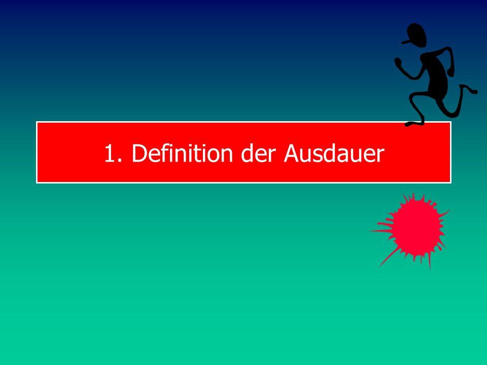 1. Definition der Ausdauer