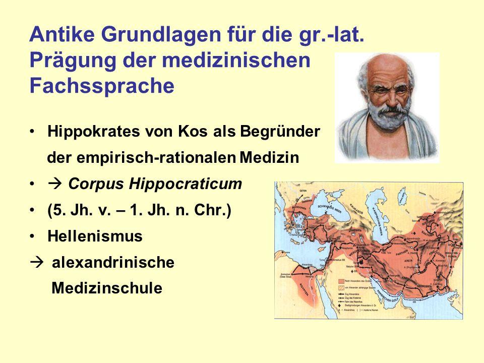 Antike Grundlagen für die gr.-lat.