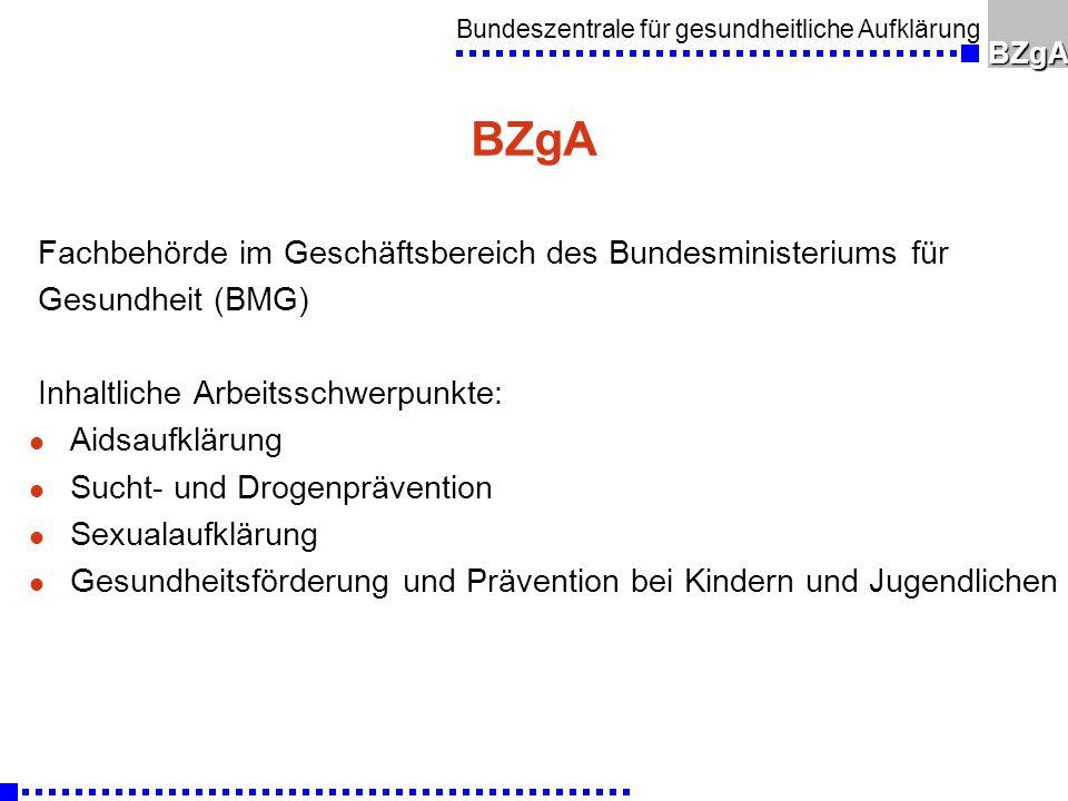 Bundeszentrale für gesundheitliche AufklärungBZgA Tutmirgut-Tage l Workshops für Multiplikatoren aus den Bereichen - Familie (Eltern und andere Familienmitglieder) - Freizeit (haupt- und ehrenamtliche Kinder- und Jugendbetreuer und Übungsleiter) - Schule (LehrerInnen, ErzieherInnen) l Workshop Gesundheitsziele für den Rhein-Sieg-Kreis: 12.3.2008 - Festlegung von Gesundheitszielen für die Region - Prozessbegleitung zur Erreichung der Gesundheitsziele