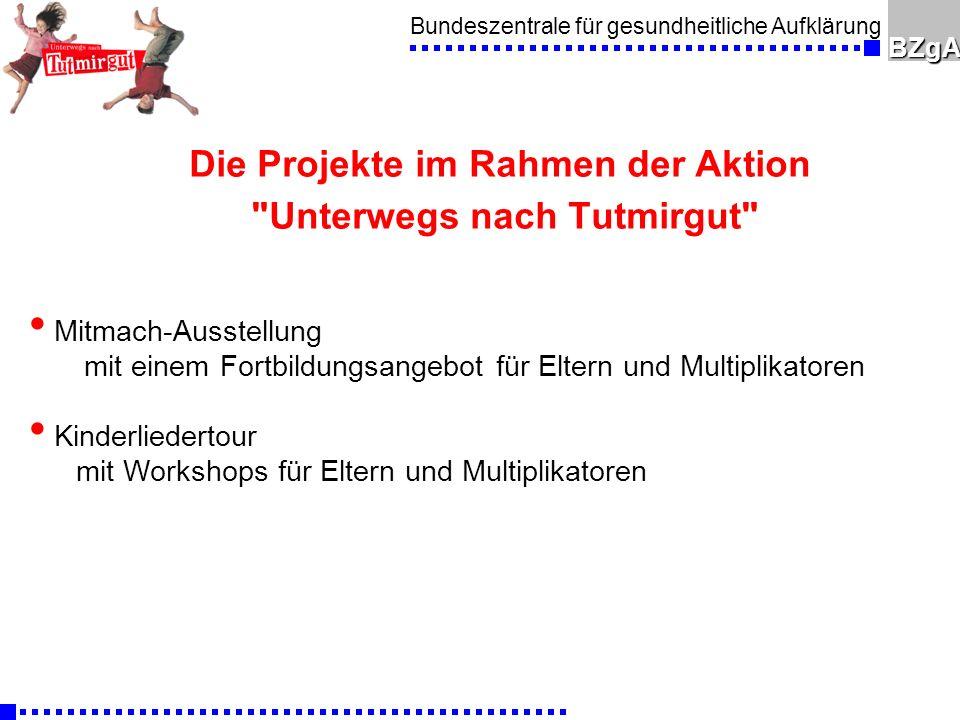 Bundeszentrale für gesundheitliche AufklärungBZgA Ausstellung l Erlebnisausstellung Unterwegs nach Tutmirgut - jeweils ein halbes Jahr an einem Standort n Im Rhein-Sieg-Kreis: Dezember 2005 n Aktuell: 8.