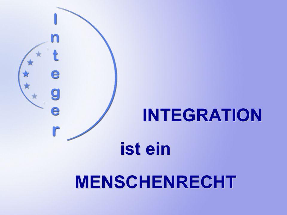 INTEGRATION ist ein MENSCHENRECHT