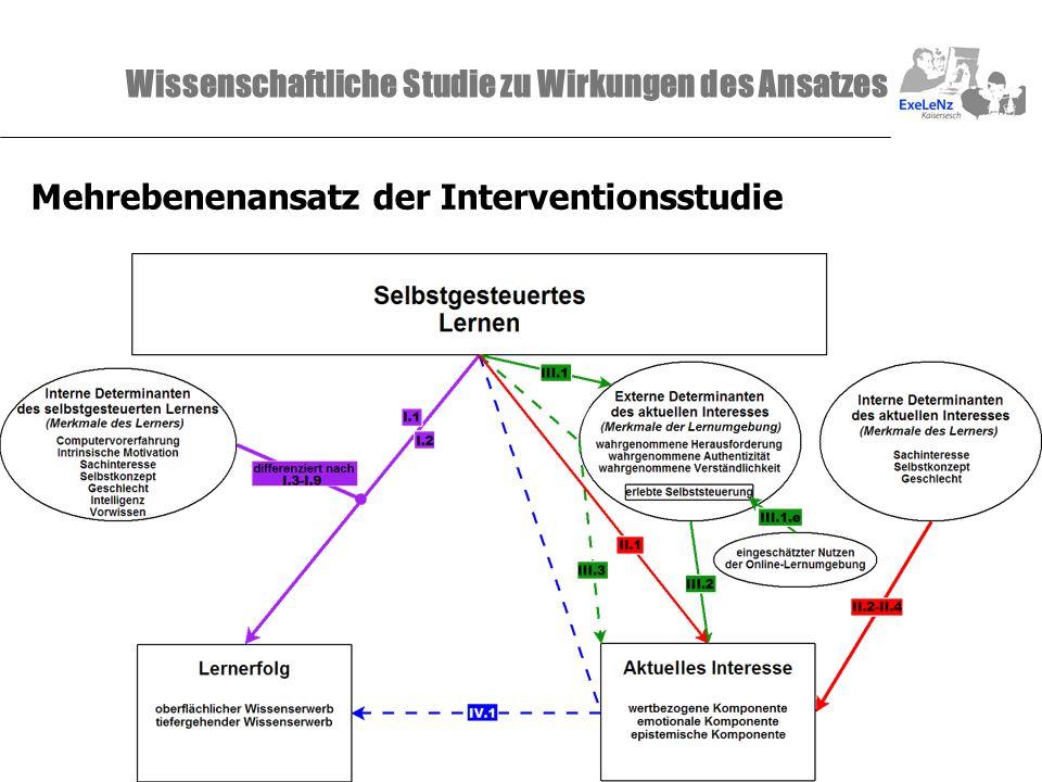 Wissenschaftliche Studie zu Wirkungen des Ansatzes Mehrebenenansatz der Interventionsstudie