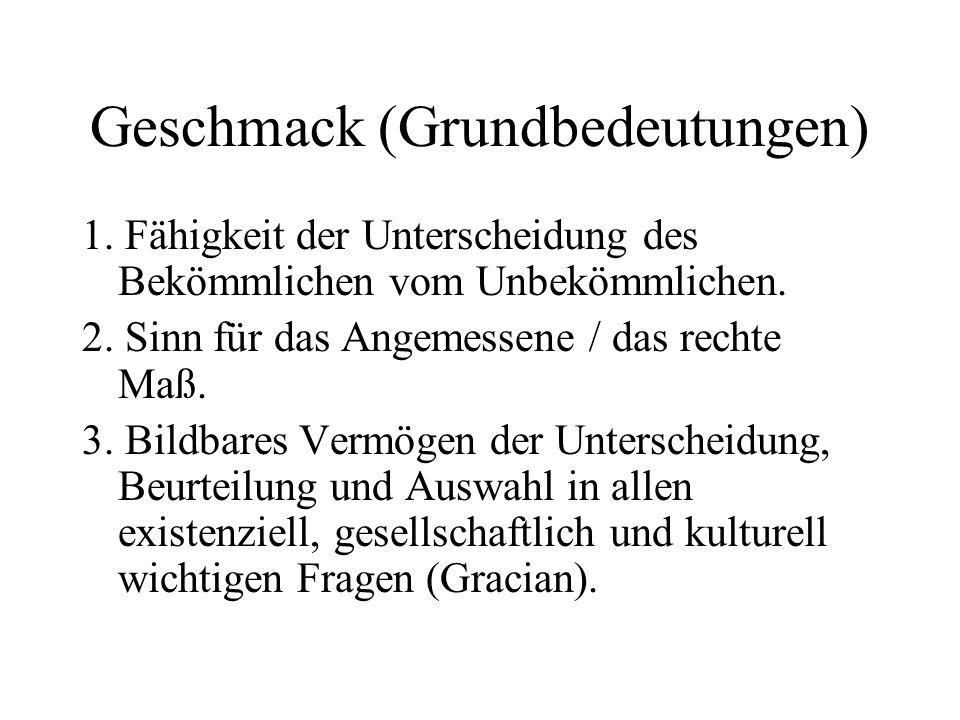 Ästhetische Schemata 1.
