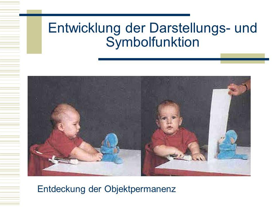 Entwicklung der Darstellungs- und Symbolfunktion Entdeckung der Objektpermanenz