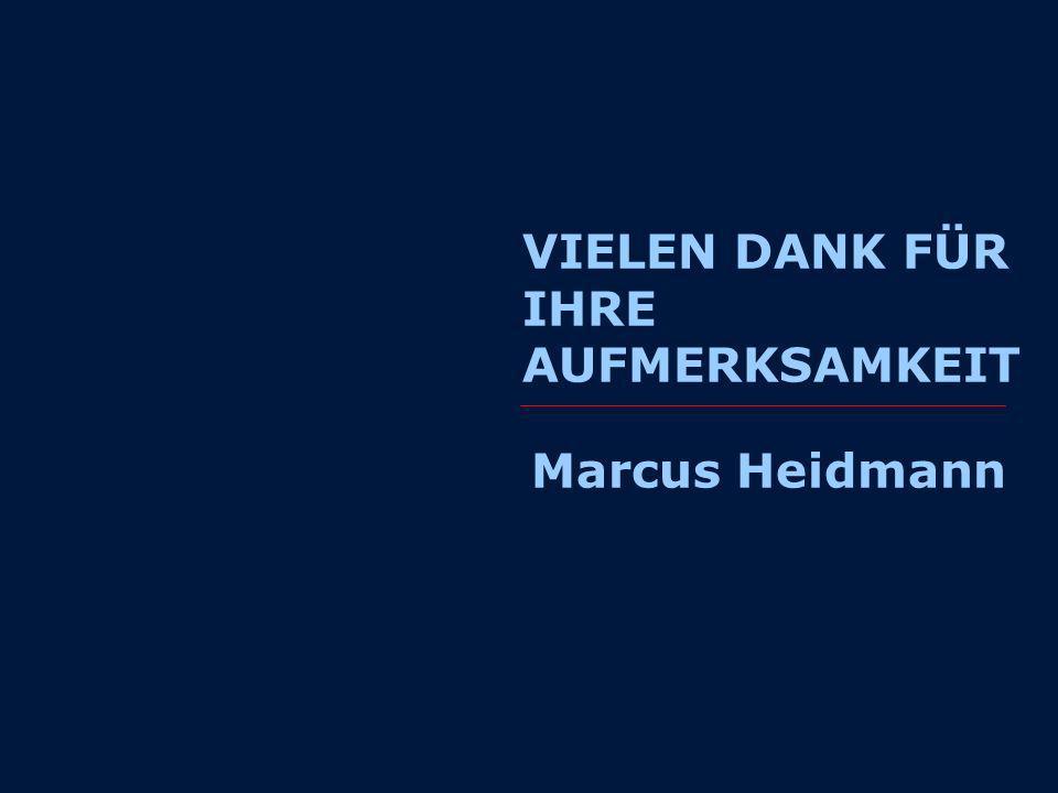 VIELEN DANK FÜR IHRE AUFMERKSAMKEIT Marcus Heidmann