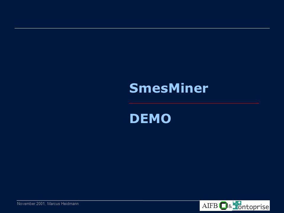 November 2001, Marcus Heidmann AIFB & SmesMiner DEMO