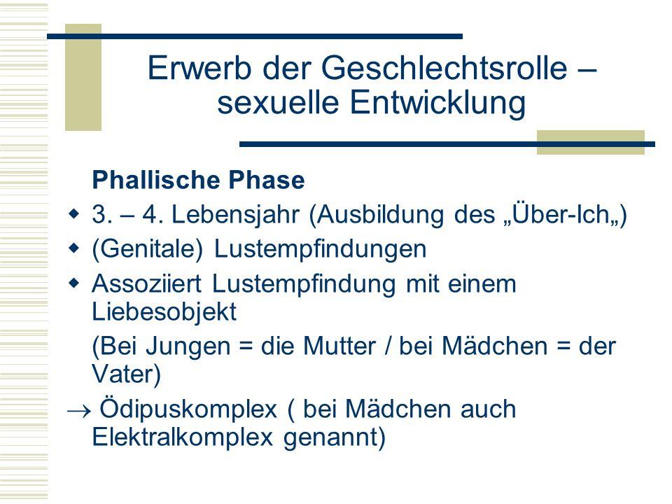 Erwerb der Geschlechtsrolle – sexuelle Entwicklung Phallische Phase 3.