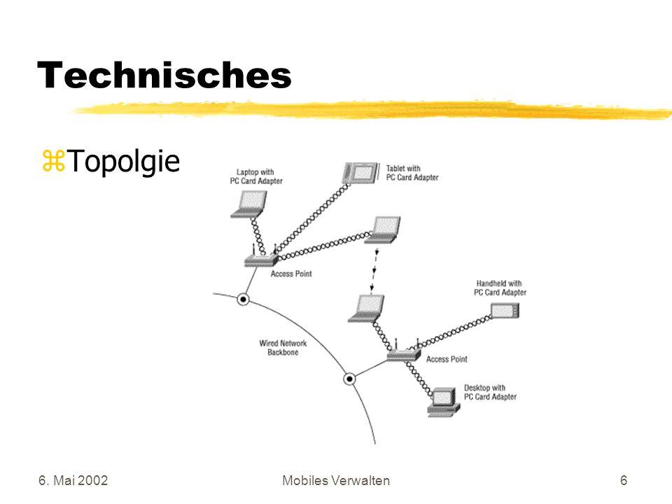 6. Mai 2002Mobiles Verwalten6 Technisches zTopolgie