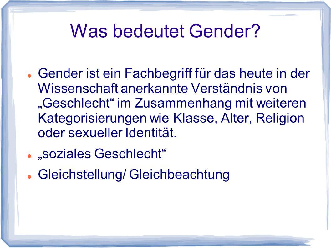 Was bedeutet Gender.