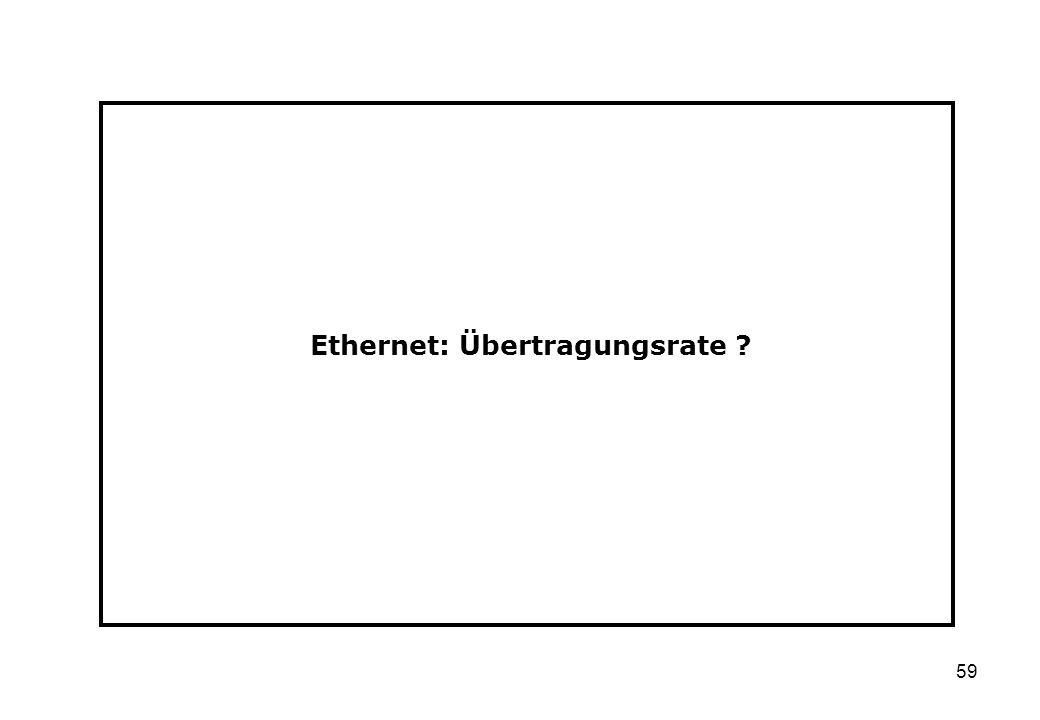 59 Ethernet: Übertragungsrate ?