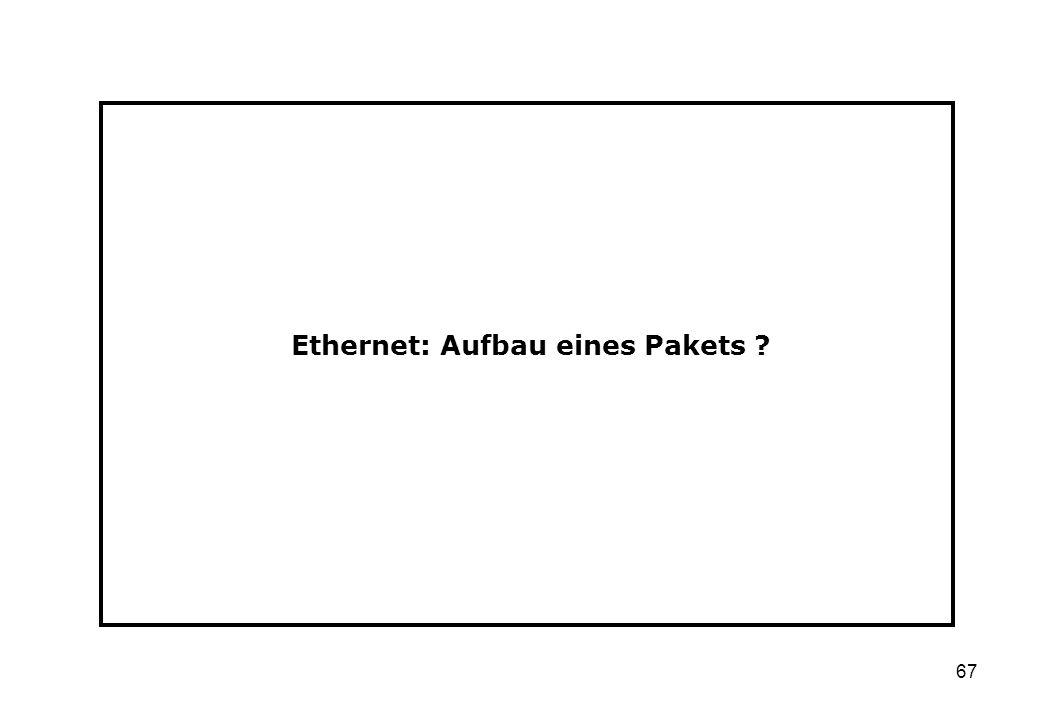 67 Ethernet: Aufbau eines Pakets ?