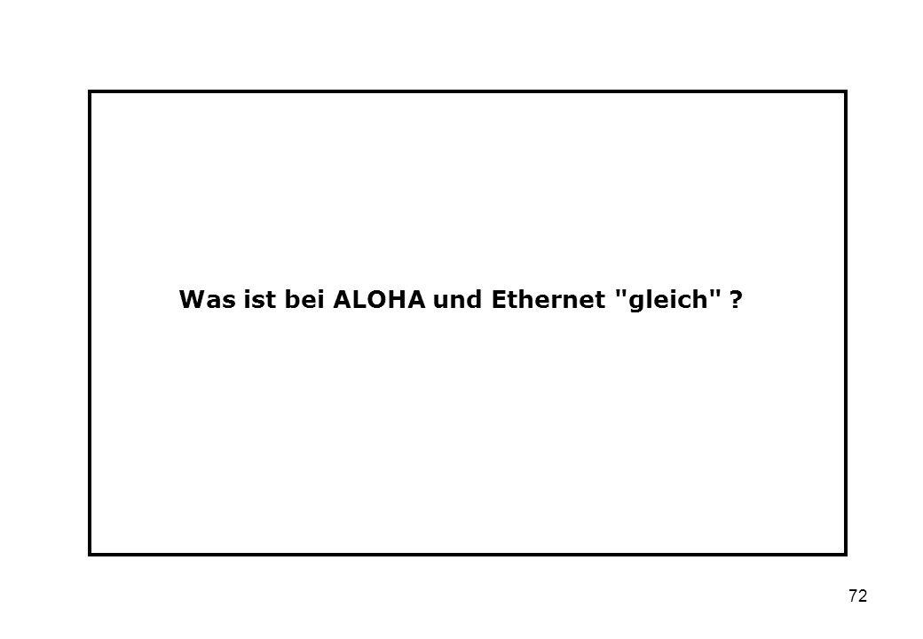 72 Was ist bei ALOHA und Ethernet