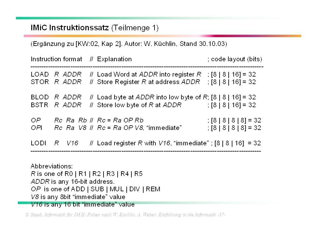 S. Staab, Informatik für IM II; Folien nach W. Küchlin, A. Weber: Einführung in die Informatik -57-