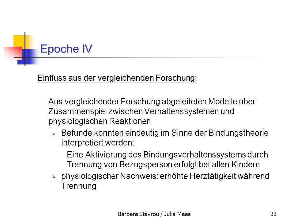 Barbara Stavrou / Julia Maas33 Epoche IV Einfluss aus der vergleichenden Forschung: Aus vergleichender Forschung abgeleiteten Modelle über Zusammenspi
