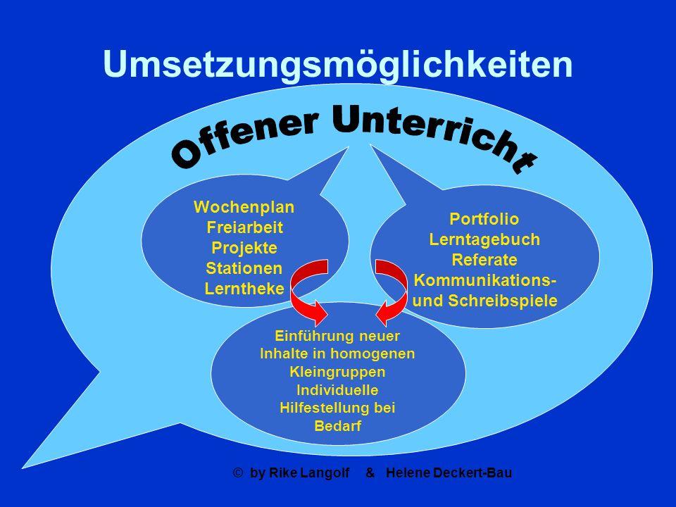 © by Rike Langolf & Helene Deckert-Bau Orientierungsarbeiten als eine Form der Evaluation = externe Kontrolle ?.