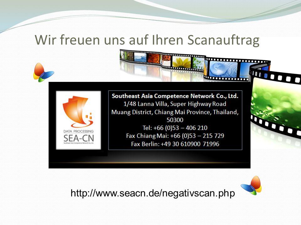 Wir freuen uns auf Ihren Scanauftrag http://www.seacn.de/negativscan.php
