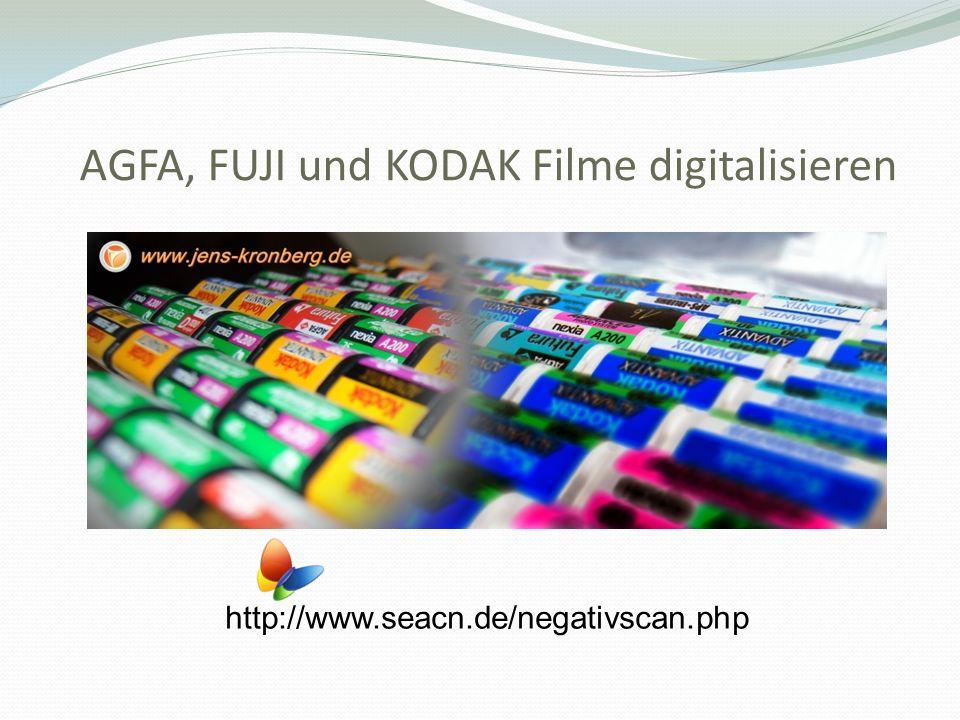 AGFA, FUJI und KODAK Filme digitalisieren http://www.seacn.de/negativscan.php