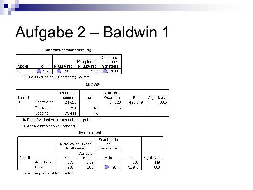 Aufgabe 2 – Baldwin 1