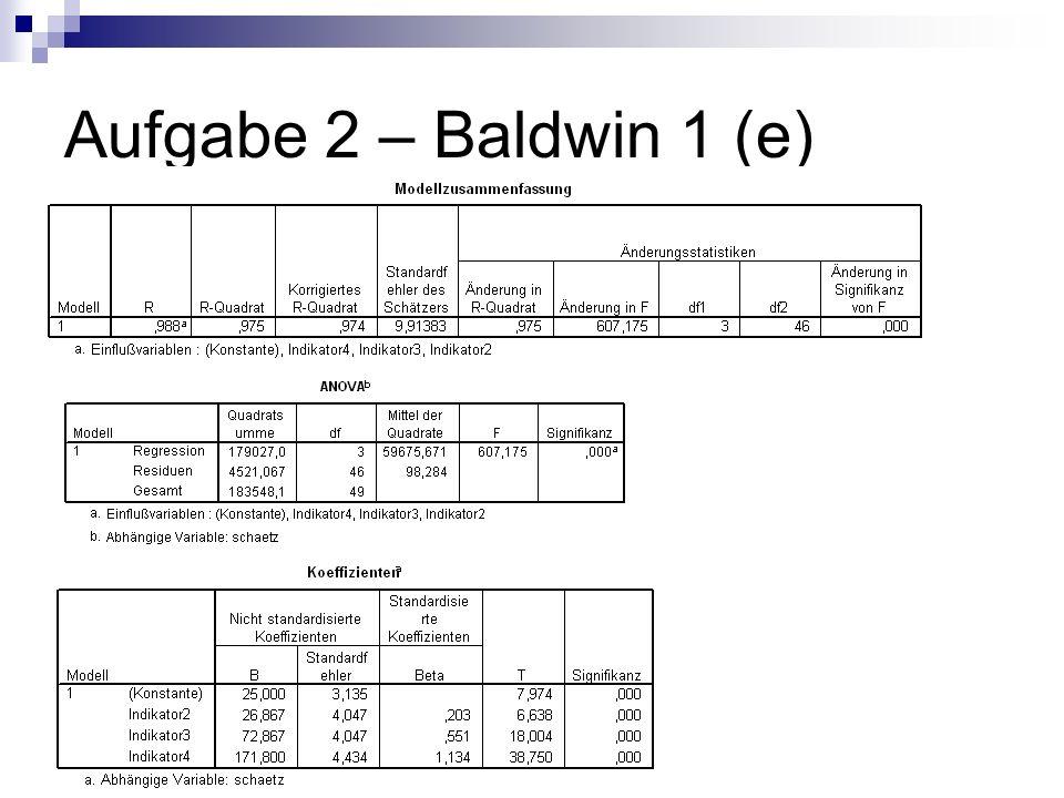 Aufgabe 2 – Baldwin 1 (e)