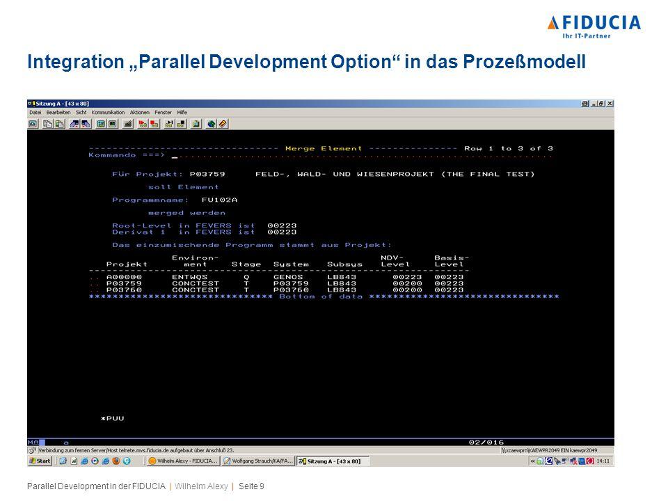 Parallel Development in der FIDUCIA   Wilhelm Alexy   Seite 10 Notification Aktive Statusmeldungen sind das A & O des Parallel Development Funktioniert nur dann, wenn das Rollenmodell gelebt und die Elementzuordnungen richtig sind Verbindet das Rollenmodell mit Ereignissen, d.h.