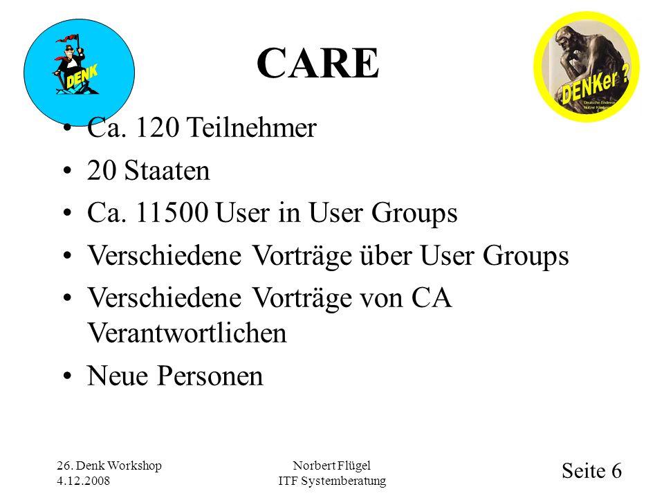 Seite 6 Norbert Flügel ITF Systemberatung Ca. 120 Teilnehmer 20 Staaten Ca. 11500 User in User Groups Verschiedene Vorträge über User Groups Verschied