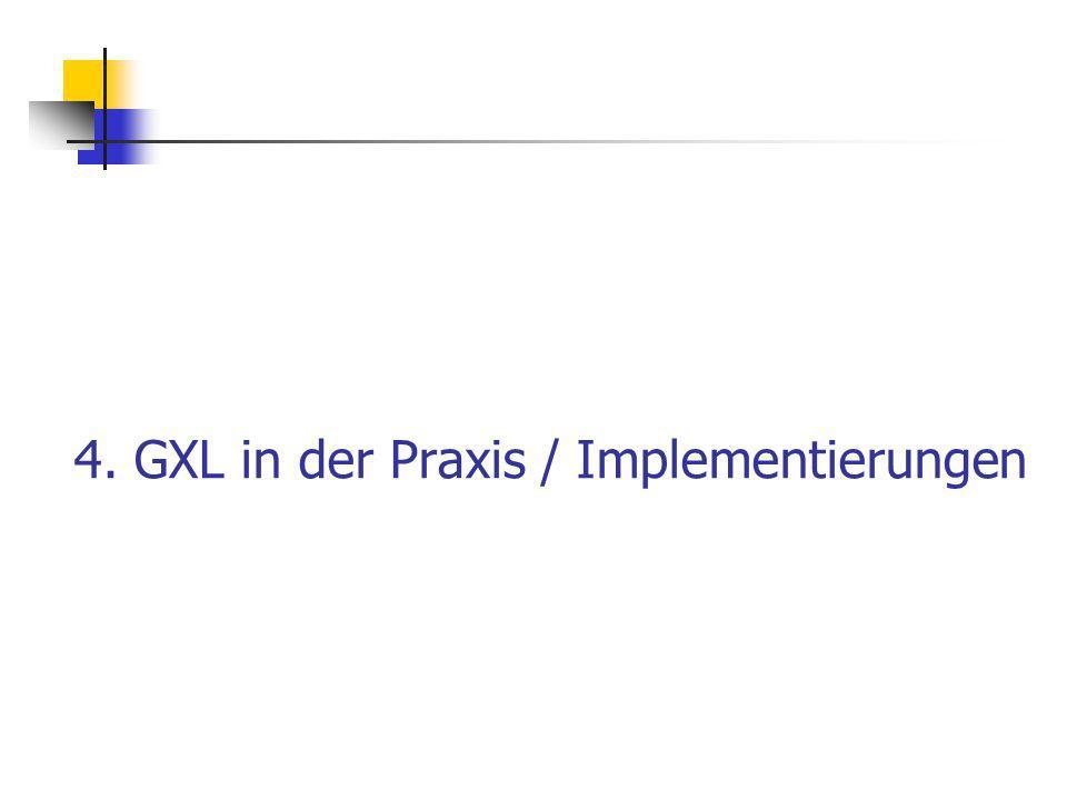 4. GXL in der Praxis / Implementierungen