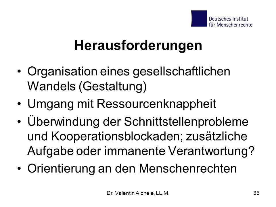 Herausforderungen Organisation eines gesellschaftlichen Wandels (Gestaltung) Umgang mit Ressourcenknappheit Überwindung der Schnittstellenprobleme und