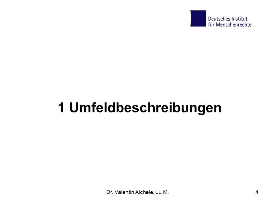 4 UN-Menschenrechtsverträge: Stellung, Umsetzung, Monitoring Dr. Valentin Aichele, LL.M.25