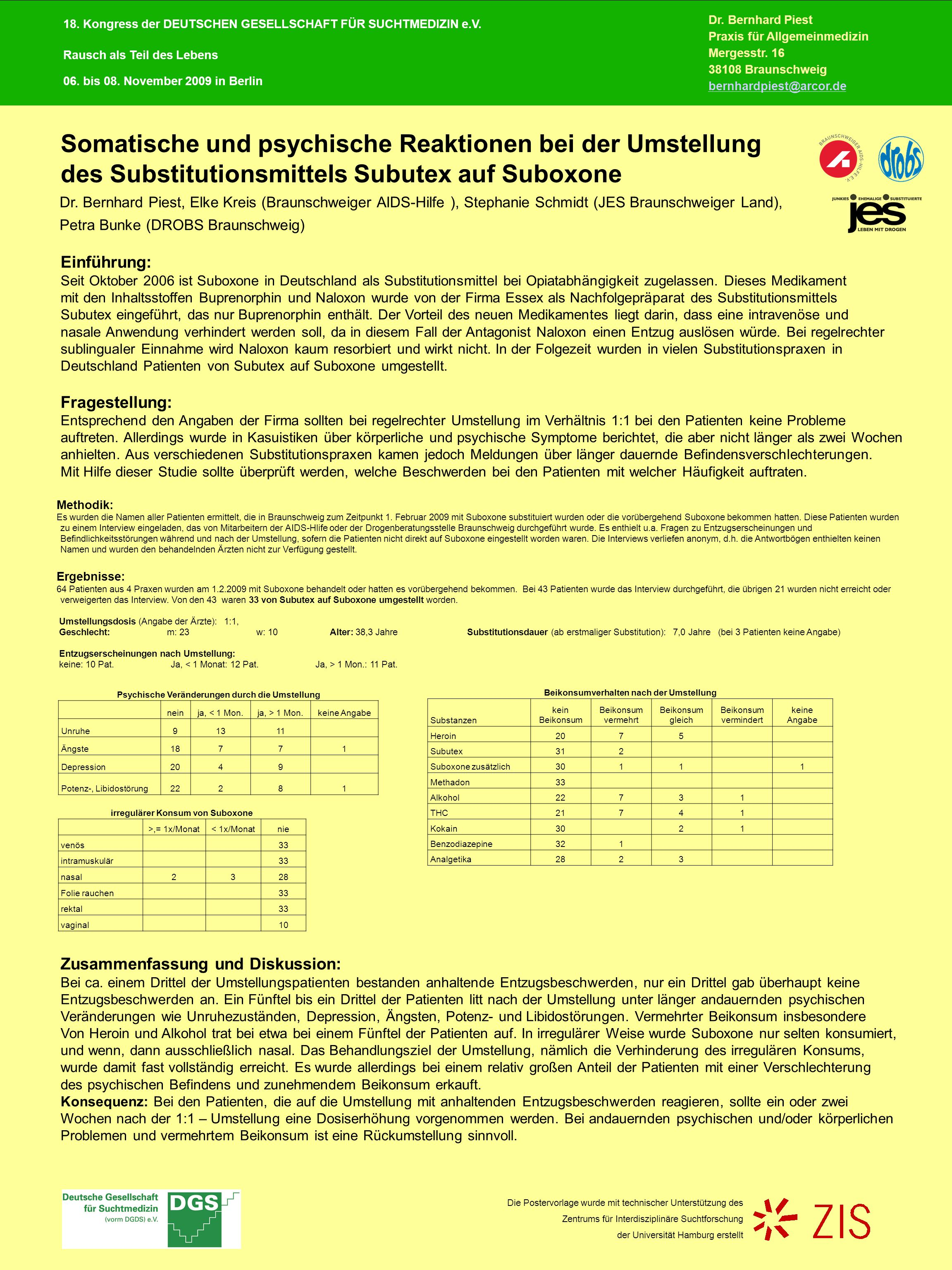 Einführung: Seit Oktober 2006 ist Suboxone in Deutschland als Substitutionsmittel bei Opiatabhängigkeit zugelassen.
